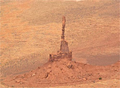 Crazy super skinny Bird Spire in Monument Valley, Northern Arizona