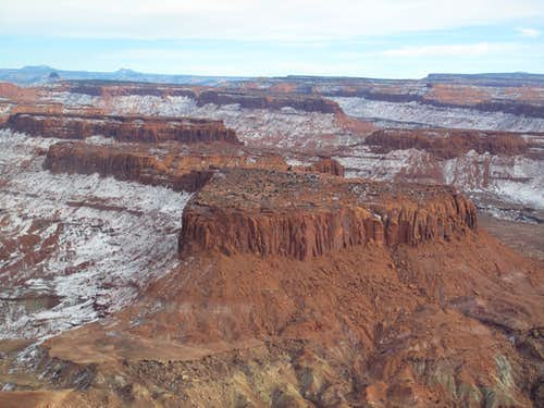 Windgate Sandstone buttes in Canyonlands/Escalante/Glen Canyon seen from the air
