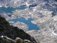 Indian Basin Lakes from Fremont Peak