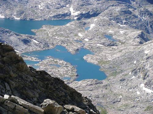 Indian Basin Lakes from Fremont Peak
