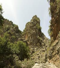 Rock tower above Kritsa Gorge