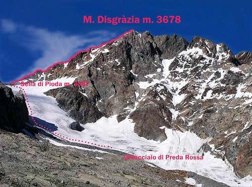 M. Disgrazia WNW Ridge topo