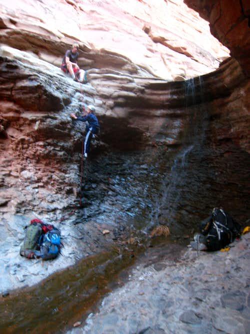 Salt Creek up-climb