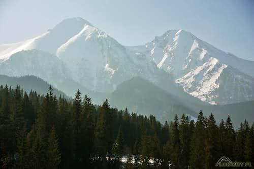 Zdiarska Vidla and Havran peaks