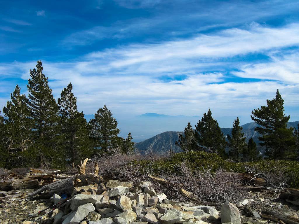 View east from summit Dawson Peak