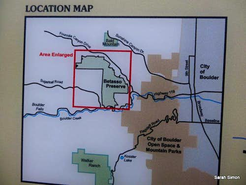 Good map for the Betasso Preserve