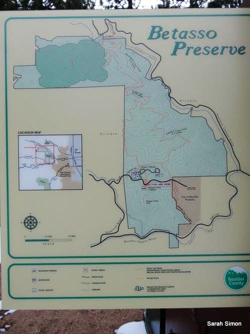 Betasso Preserve overview map
