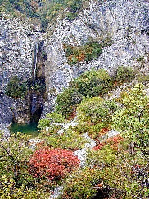 The waterfall in Val Rosandra...