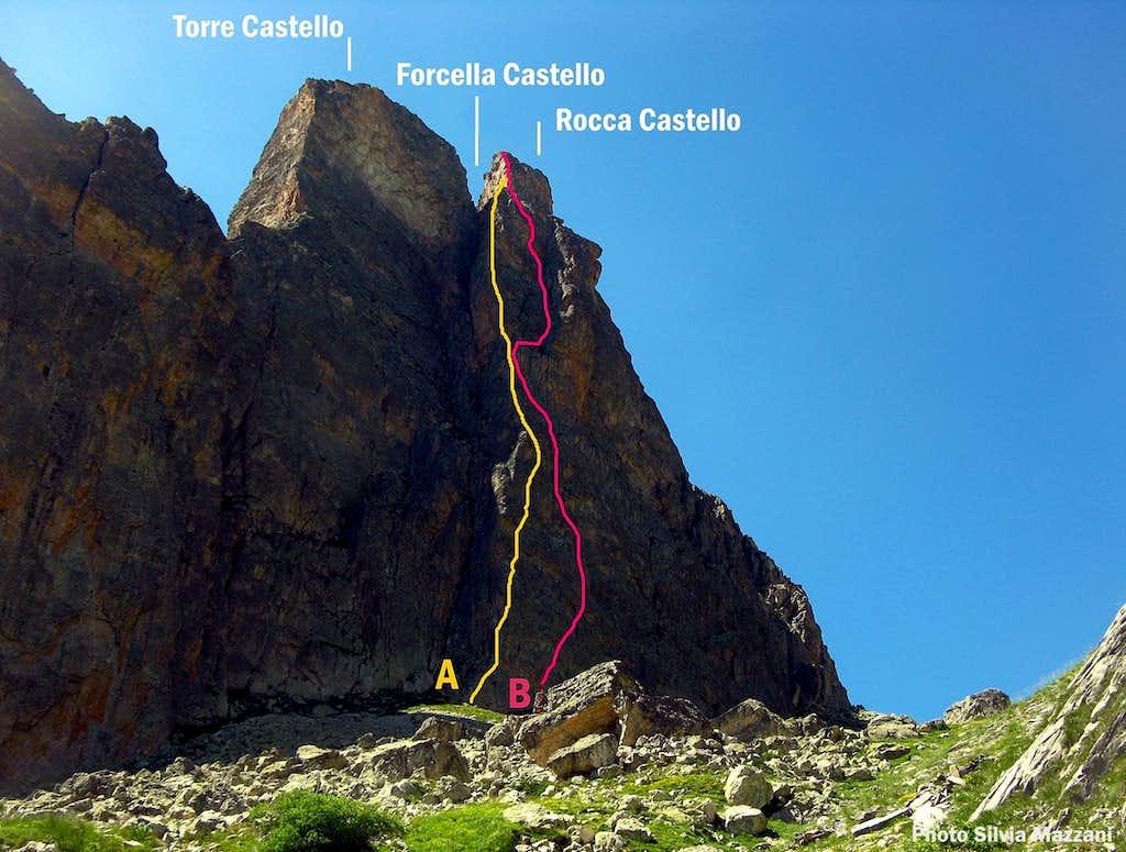 Rocca Castello East Face topo