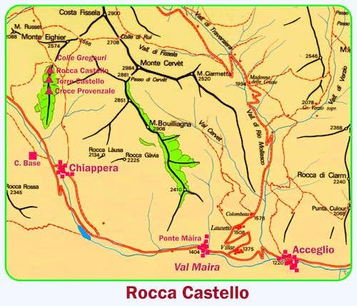 Rocca Castello map
