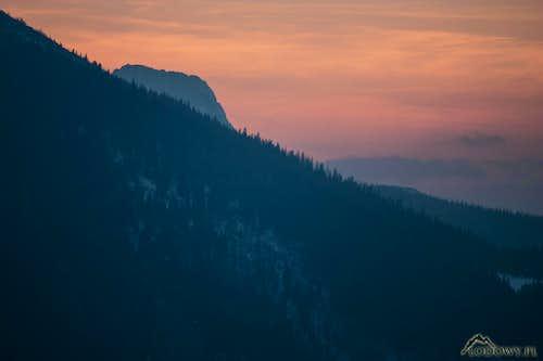 Western horizon with Giewont peak