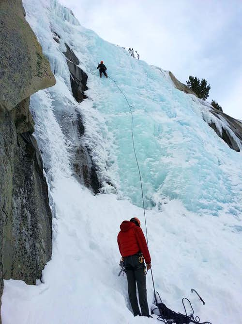 Lee Vining Canyon Ice Climbing