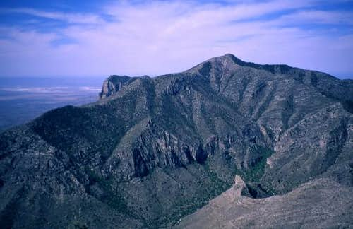 Guadalupe Peak from Hunter...