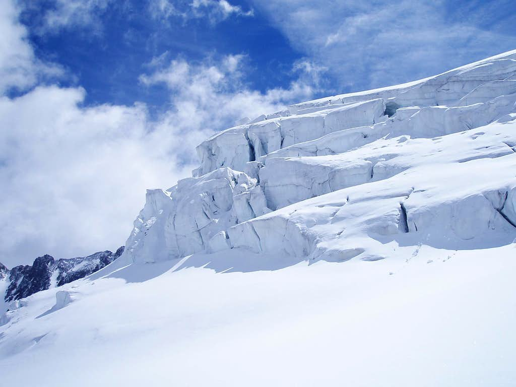 Taschachferner Ice formations