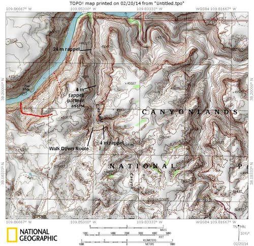 Elephant Canyon Map