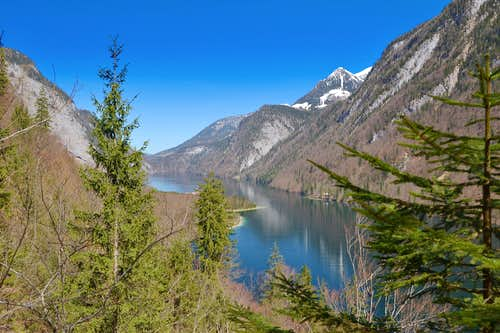 The Königssee lake in early April