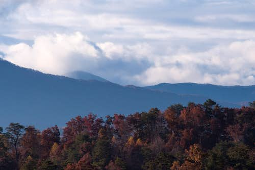 Darkening clouds near Mt LeConte