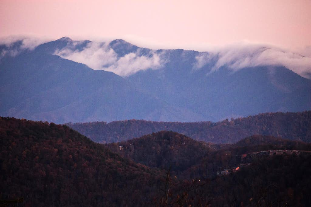 Clouds in the evening Smokies