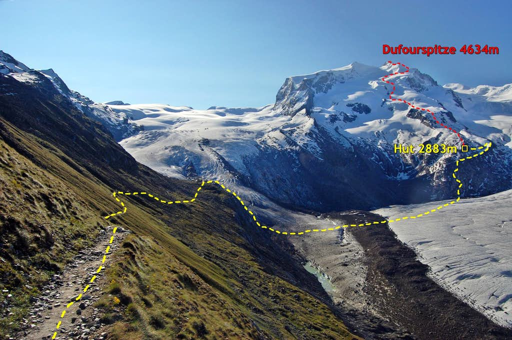 Dufourspitze - Swiss Normal Route