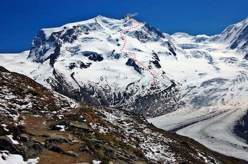 Dufourspitze - Swiss Normal Route