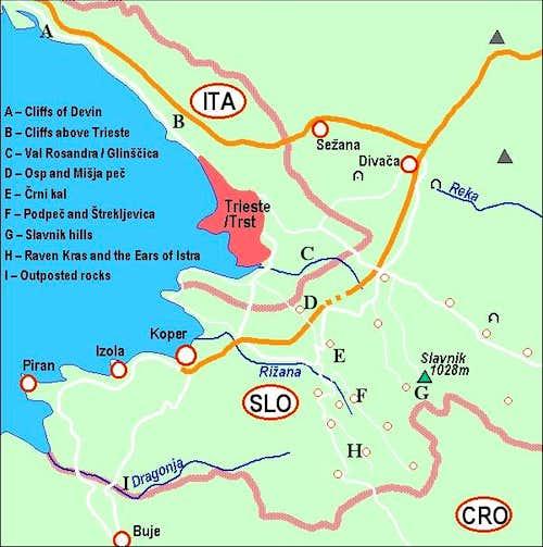 A self-made map of Slavnik...