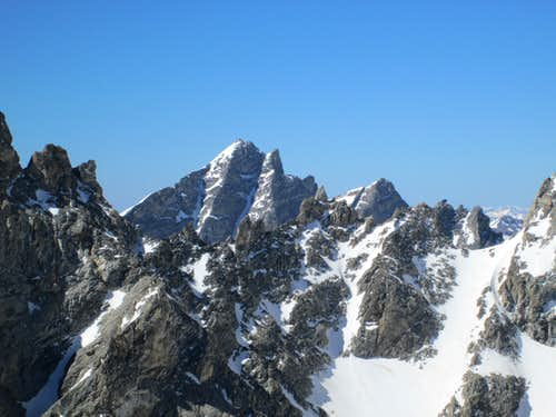 Buck Mountain seen from the summit of Disappointment Peak, Teton Range