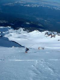 Climbing the Avalanche gulch...
