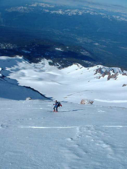 Climbing the Avalanche gulch...