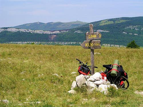 Cycling over Raven Kras. One...
