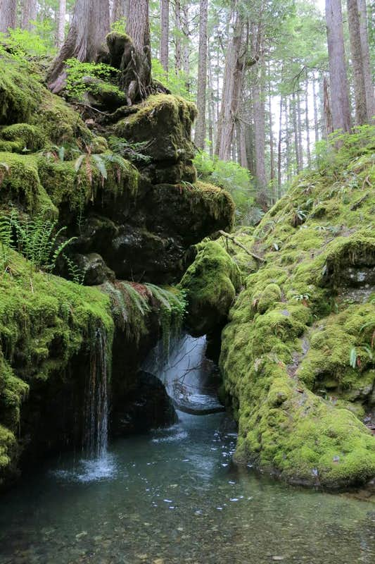 Waterfall Grotto, The Brothers trail