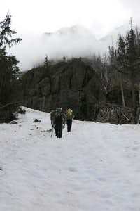 Heading up to the  Lunch Rock