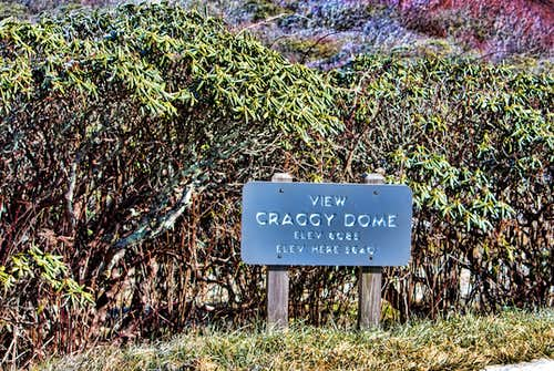 Craggy Dome elevation sign