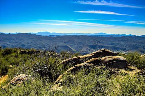 West from  Fiske Peak