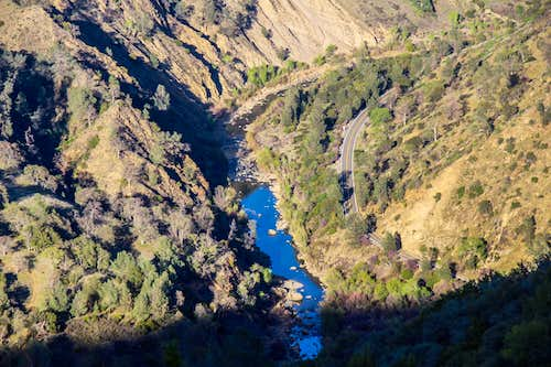 Cache Creek from the Blue Ridge Trail