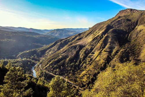 Cache Creek Canyon and Glascock Mtn.
