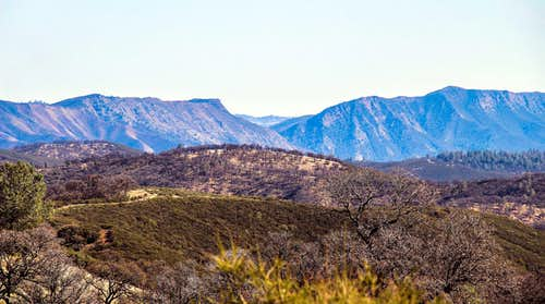Glascock Mtn., Cache Creek Canyon and Fiske Peak from the northwest