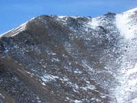Boundary shoulder to summit view