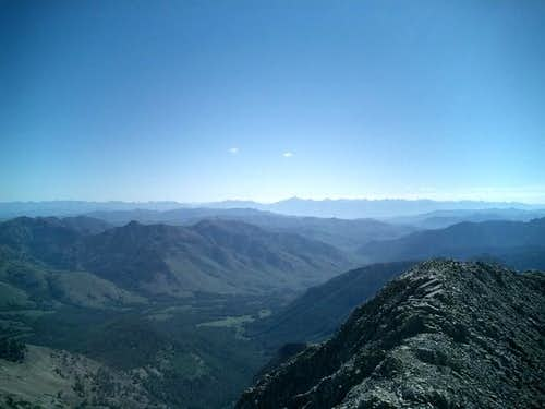 Looking east from the summit...