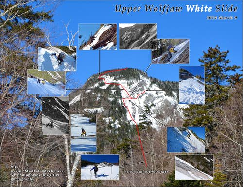 Upper Wolfjaw White Slide: Winter 2014