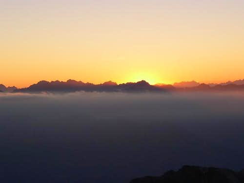 Sunset from Adamello group...