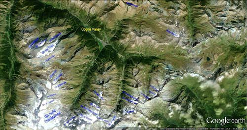Glaciers of Cogne Valley (Gran Paradiso)