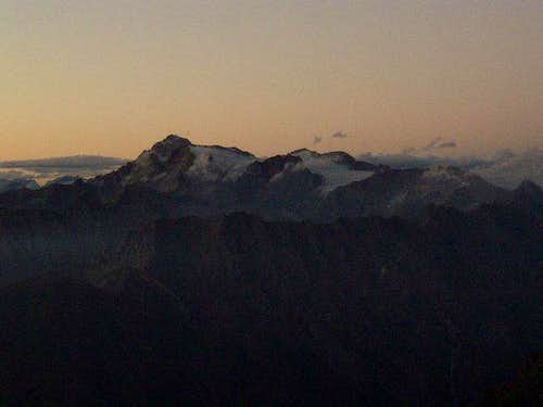 Monte Adamello at the sunset...