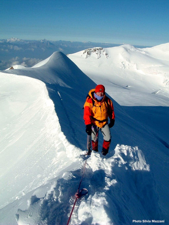 Western Lyskamm, first airy snow-ridge