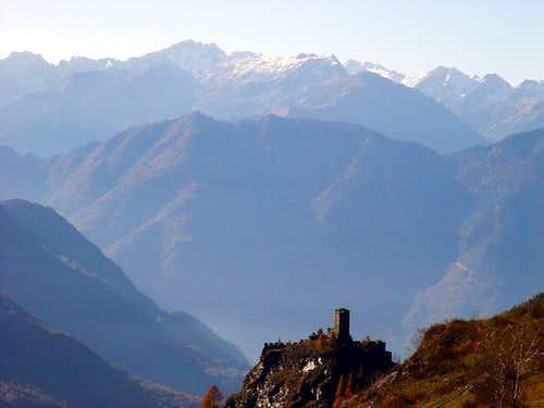 North (Ayas ...) Graines Castle in Frudière Vallon 2002