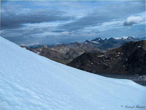 Kaunergrat from Wildspitze (3769m)
