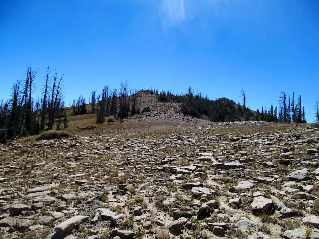 ascending North Tent's slopes