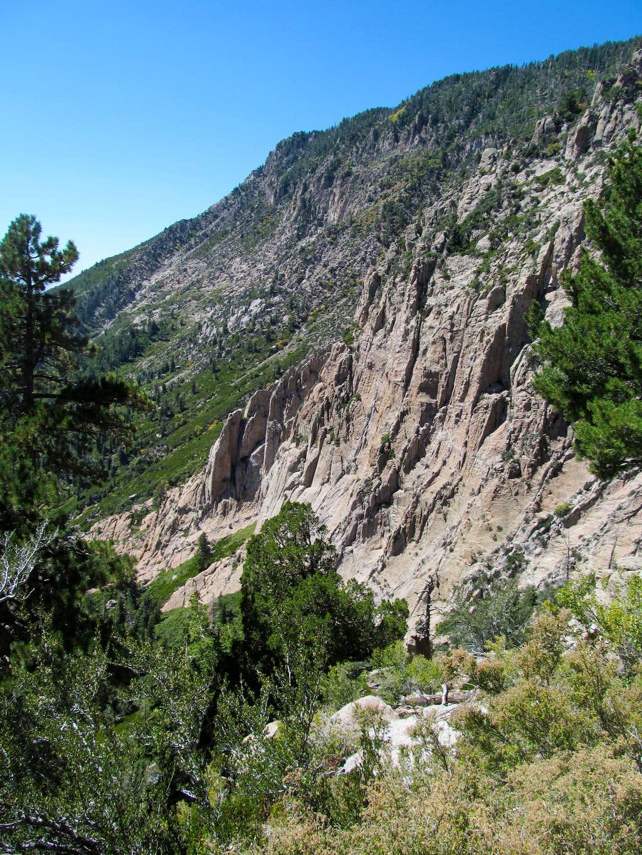 cliffs along descent