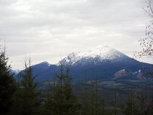 Mount Pilchuck from the south side of Miniature Mountain