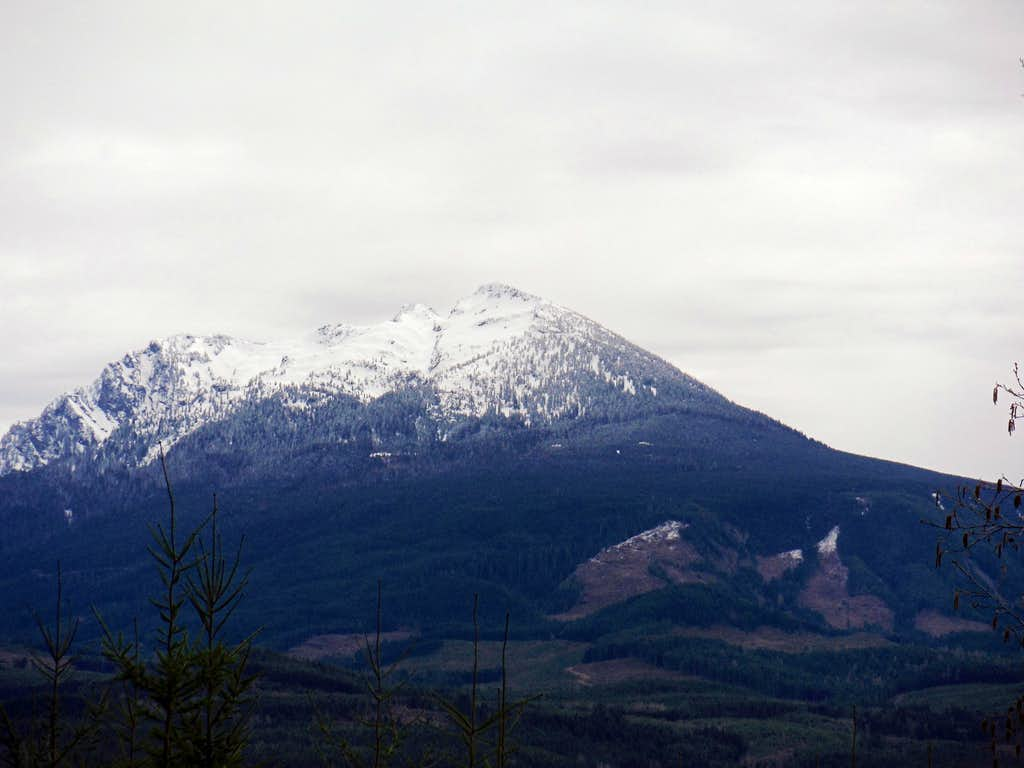 Mount Pilchuck from south side of Miniature Mountain