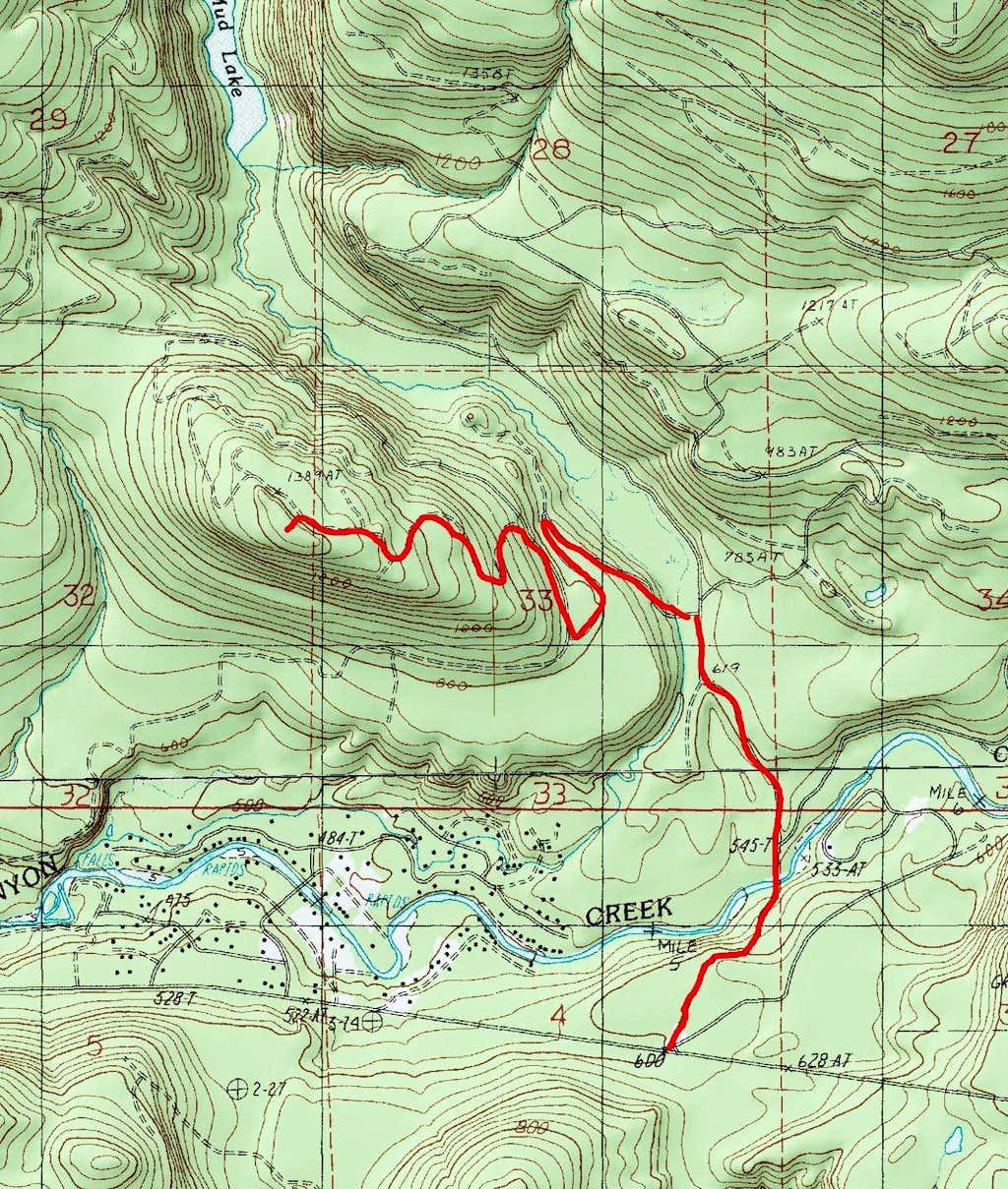 Miniature Mountain Route Map